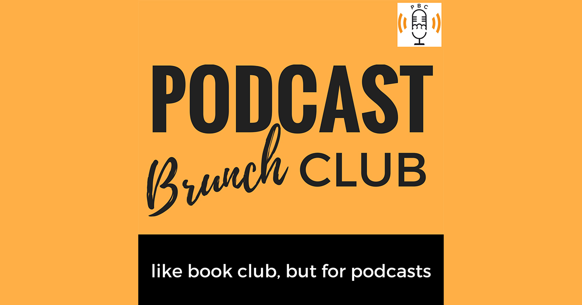 Podcast Brunch Club logo on orange background